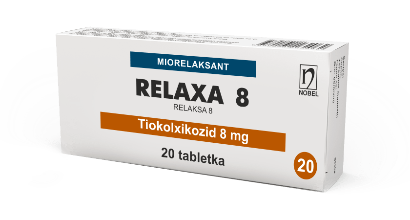 Relaxa 8mg Tabletkalar №20