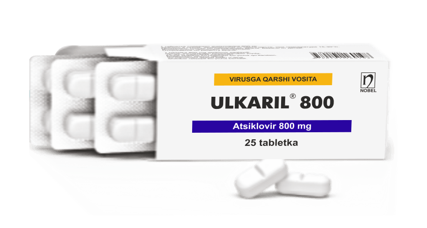 Ulkaril 800mg Tabletkalar №25